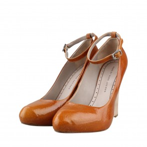 Marc By Marc Jacobs Brown Pat Whisky Wedges