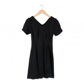 Black Flare Mini Dress