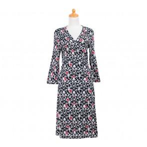 Diane Von Furstenberg Black Wrap Midi Dress
