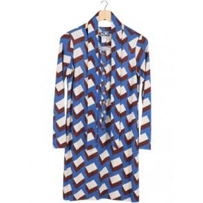 Blue Square Midi Dress