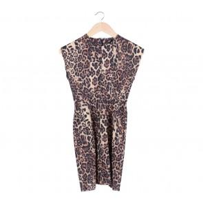 Zara Brown Animal Print Mini Dress