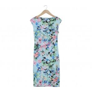 Zara Multi Colour Floral Midi Dress