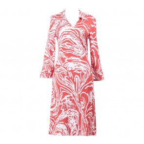Diane Von Furstenberg Red And White Midi Dress