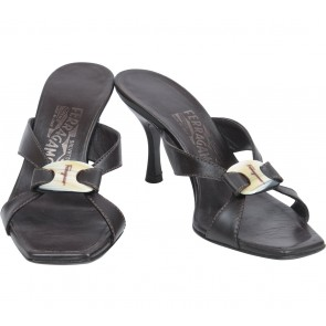 Salvatore Ferragamo Dark Brown Tahiti  Heels