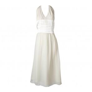 BCBG Maxazria Cream Sleeveless Midi Dress