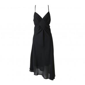 Miss Selfridge Black Criss Cross Midi Dress