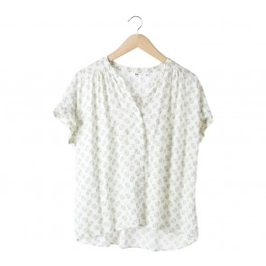 UNIQLO Off White Patterned Shirt
