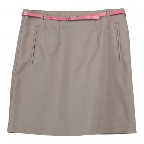 H&M Cream With Pink Belt Skirt