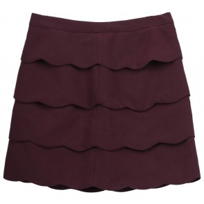 H&M Maroon Scallop Skirt