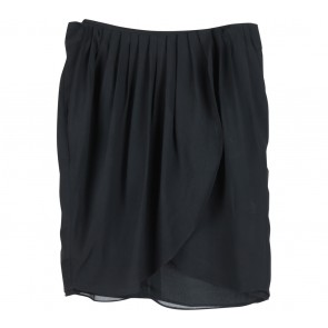 Mango Black Drapped Mini Skirt