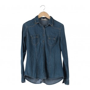 Stradivarius Blue Denim Shirt