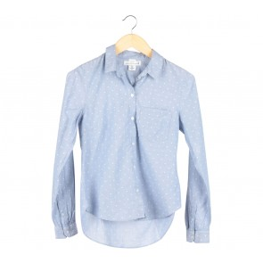 H&M Blue Dotted Shirt