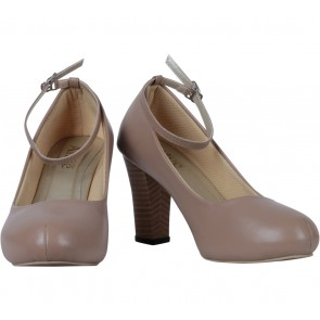 Alive Love Arts Brown Ankle Strap Heels