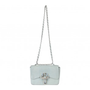 Exotica Blue Beaded Sling Bag