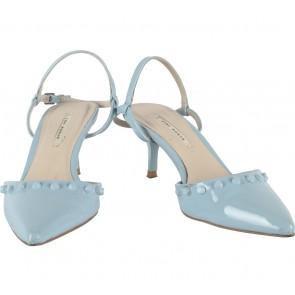 Zara Blue Studded Ankle Strap Heels