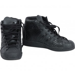 Adidas Black Superstar UP Wedges Sneakers