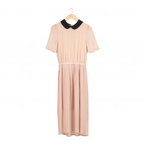 Balenciaga Cream Pleated Long Dress