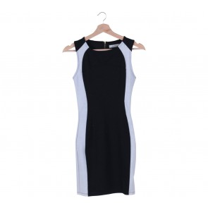 Pull & Bear Black And White Two Tone Mini Dress