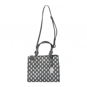 Coach Black And White Floral Satchel