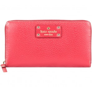 Kate Spade Red Neda Wellesley Garnet Wallet