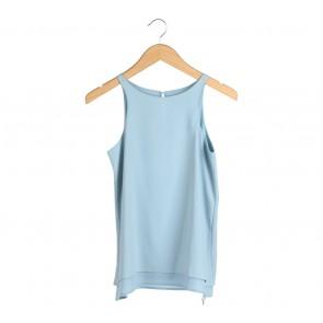 Le Bijou Blue Belted Sleeveless