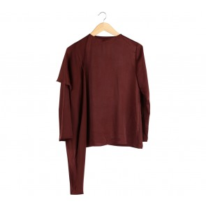Shop At Velvet Brown Layered Blouse