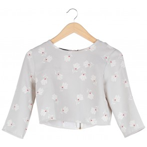 Zara Grey Crop Blouse