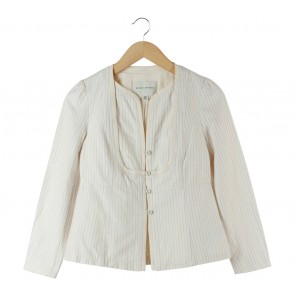 Banana Republic Cream Striped Blazer