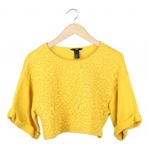 H&M Yellow Cropped Blouse