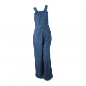 Zara Dark Blue Patent Jumpsuit
