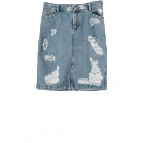 Asos Blue Ripped Skirt