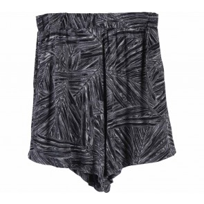 DRDENIM Black And Grey Abstract Short Pants