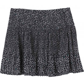 H&M Black And Cream Pleated Short Skirt