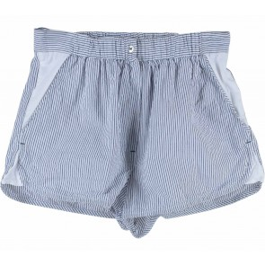 H&M Dark Blue And White Striped Short Pants