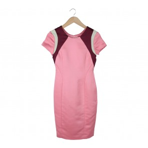 H&M Pink Back Cut Out Midi Dress