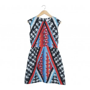 Peter Pilotto Multi Colour Patterned Mini Dress