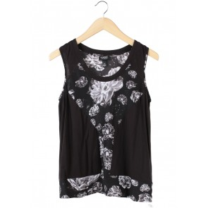 Prabal Gurung Dark Brown Floral Sleeveless