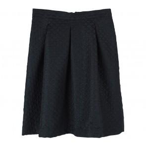 Topshop Black Textured Skirt