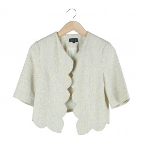 Topshop Yellow And White Scallop Outerwear