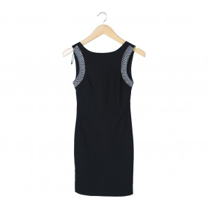 Zara Black Beaded Low Back Mini Dress