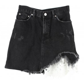 Zara Black Ripped Skirt