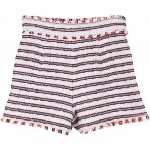 Zara Cream And Brown Short Pants