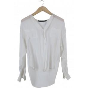 Zara Off White Blouse