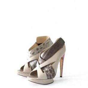 Peter Pilotto X Nicholas Kirkwood Grey Heels