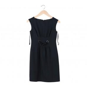 Ann Taylor Black Belted Mini Dress