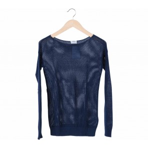 Wallace Blue Cable Knitted Sweater