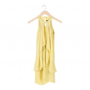 Cynthia Steffe Yellow Trapeze Mini Dress