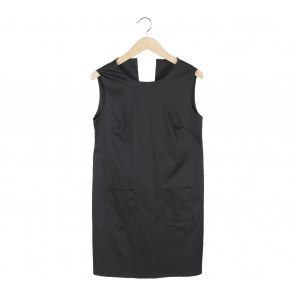 ATS The Label Black Low Back Mini Dress