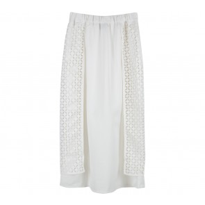 ATS The Label Off White Slit Skirt