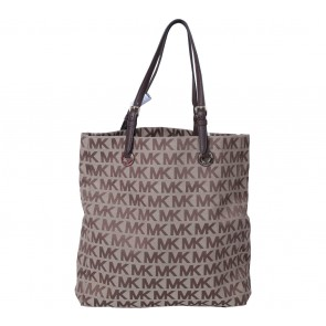 Michael Kors Brown Monogram Tote Bag